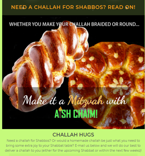 images of challahs to advertise a new initiative by a local non-profit organization