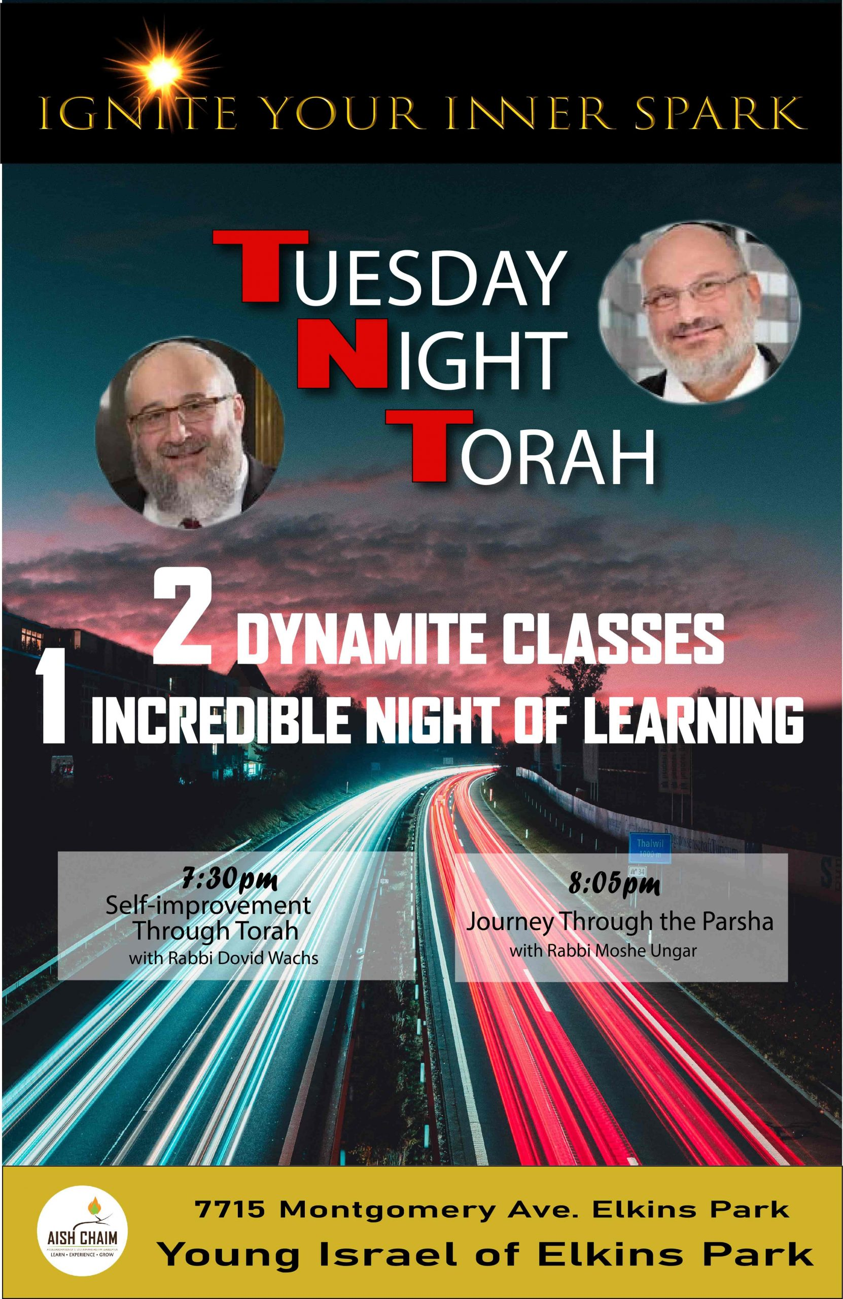 Poster advertising a Tuesday Night Class