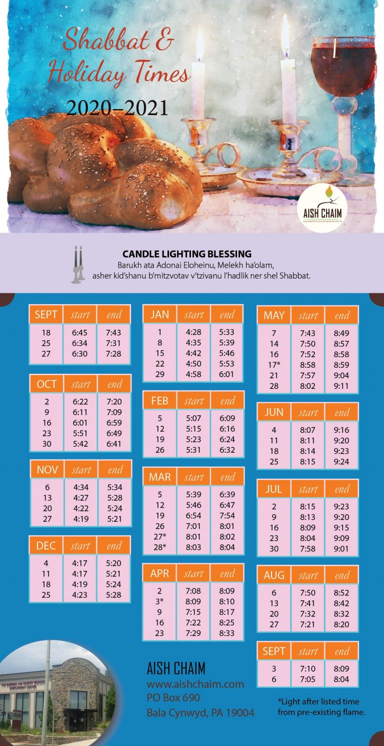 magnet with candle lighting times