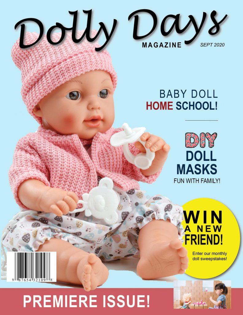 mock magazine cover for Dolly Days magazine