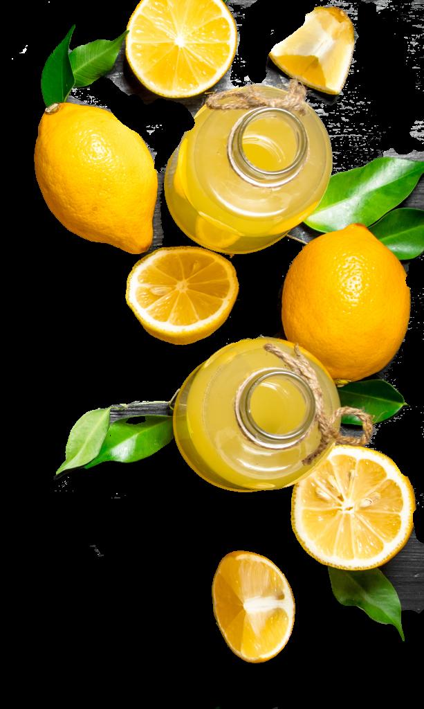 image of lemons and lemonade