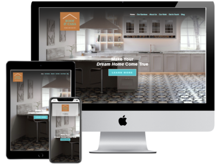 Mock Up Site Roof and Casa Home Decor